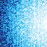 blue ombre snowflake fabric