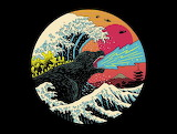 .retro wave kaiju.
