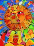 Laurel Burch People around the sun