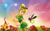 Tinkerbell and a bee
