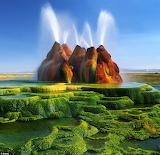 Fly Geyser Nevada