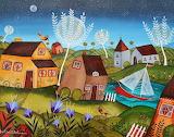 topsy turvy village, Justin Abelman