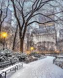 Snow dusting Central Park New York