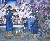 Natalya Goncharova, Gardening, 1908