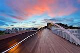 Sunrise on Henderson Waves Bridge Singapore