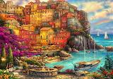 Beautiful Day at Cinque Terre~ Chuck Pinson - Copy