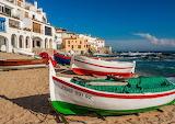 Sea, coast, building, house, boats, Spain