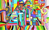 colourful town