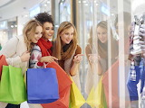 Young women go shopping