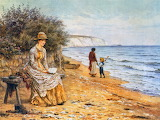Helen Allingham, At the Seashore