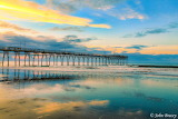 Sunset Beach Pastel Pier