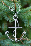 Us navy anchor christmas ornament