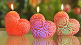 #Valentine Heart Candles
