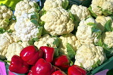 Cauliflower and peppers