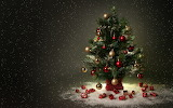 ^ Christmas tree miniature snowing