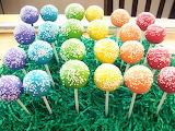 Rainbow of cake pops