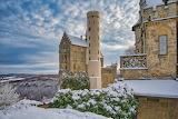 Castle, tower, snow, nature, landscape