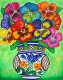 Pansy Parade Painting by Lisa Lorenz