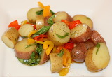 ^ Sweet and Spicy Potato Salad with Sweet Peppers and Basil