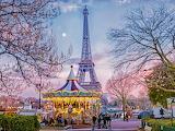 Paris-Eiffel-tower-carousel