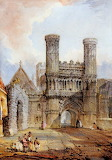 St Augustines Gate, Canterbury by H Jenkins