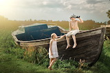 children, boat