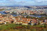 Aerial of Czech Republic city