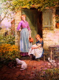 Feeding Time in the Garden ~ Henry John Yeend King