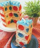 Polka dot cake @ Sugary Shrink