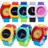 ^ Colorful rubber watches