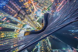 View from top of highest residential building in South Korea