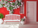 ^ Pink Roses Bench
