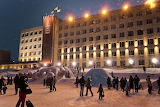 New Years Square, Zlatoust Russia c 2014 by Quarkgluonplasma