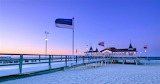 Blue hour Ahlbeck Pier Germany
