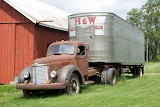 Old Semi Truck and Trailer