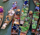 The Floating Markets on The Mekong River in Vietnam