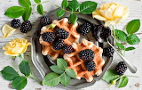 Blackberries And Waffles