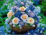Корзина чудесных цветов