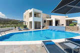 Minimalist Mediterrean mountain view villa and pool