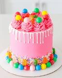 Pink Candy Cake
