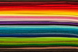 Colorful rainbow textile fabric