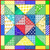 Patchwork Quilt Pattern 7 - Mixed Colours