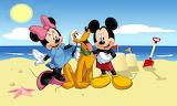 Mickey and Minnie on the Beach