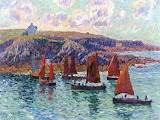 Fishing Boats, Finistere by Henri Moret 1905