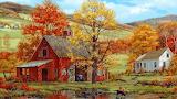 ^ Fred Swan ~ Friends in Autumn