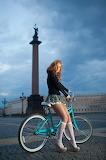 jeune fille au vélo