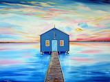 Blue boat shed - Swan River Perth - Roberto Gagliardi