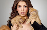 Anna Kendrick and a hand full of kittens