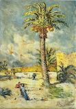 Francisco Rodriguez Clement, Paisaje con palmera, 1949 (ELCHE)