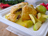 ^ Baked Brie in Puff Pastry with Apples